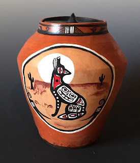 wolf urn, wolf, spirit of a wolf, wolf totem, totem urn, totem, wolf