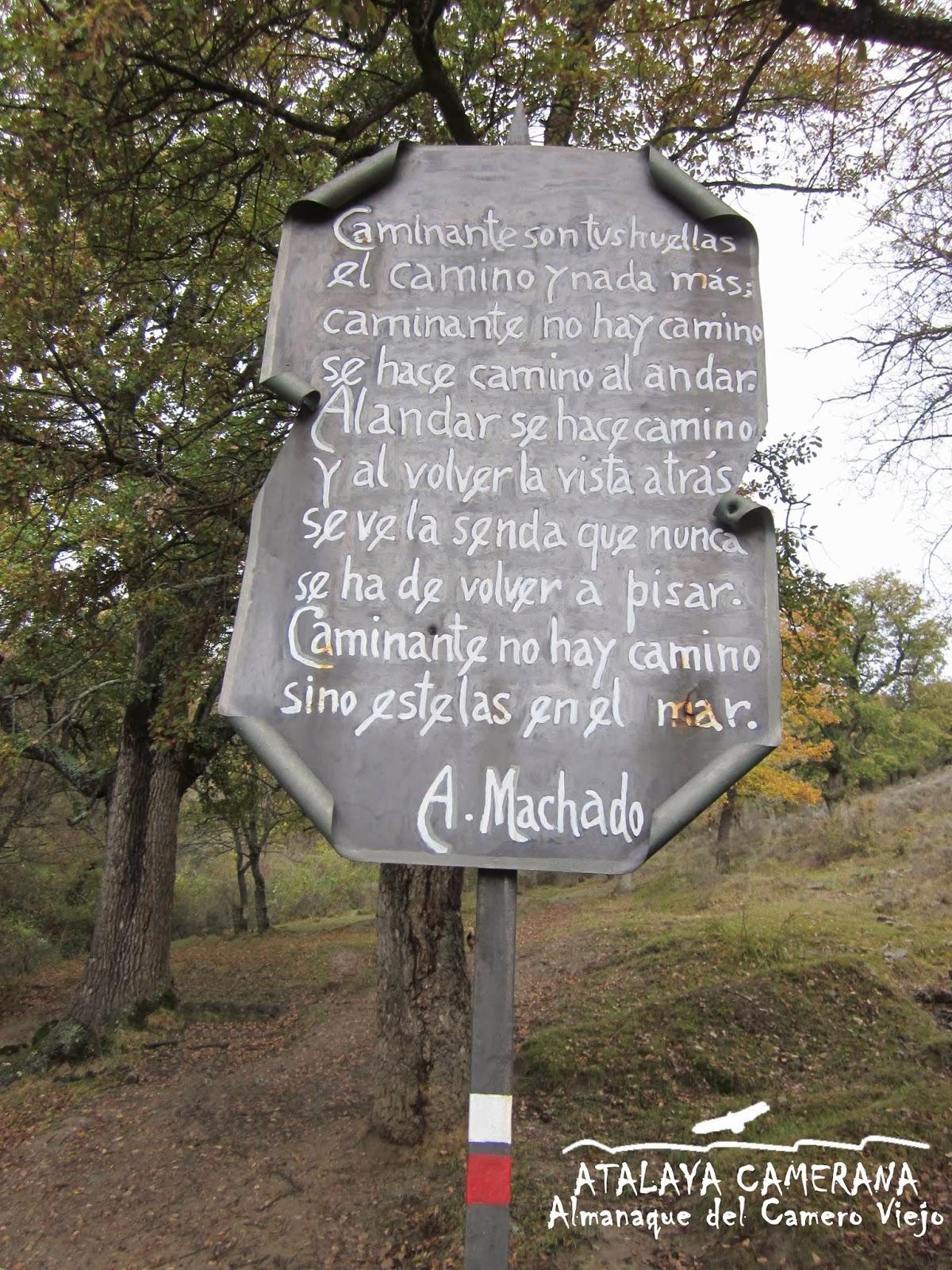 """""""Caminante no hay camino"""" (A. Machado). Dehesa de San Román de Cameros"""