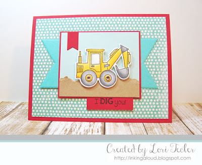 I Dig You card-designed by Lori Tecler/Inking Aloud-stamps from Taylored Expressions