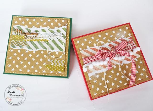 Kartki świąteczne w pudełkach