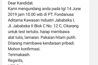 PT. FONDAnusa Aditama Kawasan Industri Jababeka I