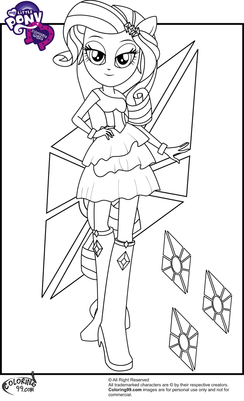 Coloring pages beatitudes - My Little Pony Equestria Girls Coloring