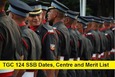 TGC 124 SSB Dates, Centre Allotment and Merit List