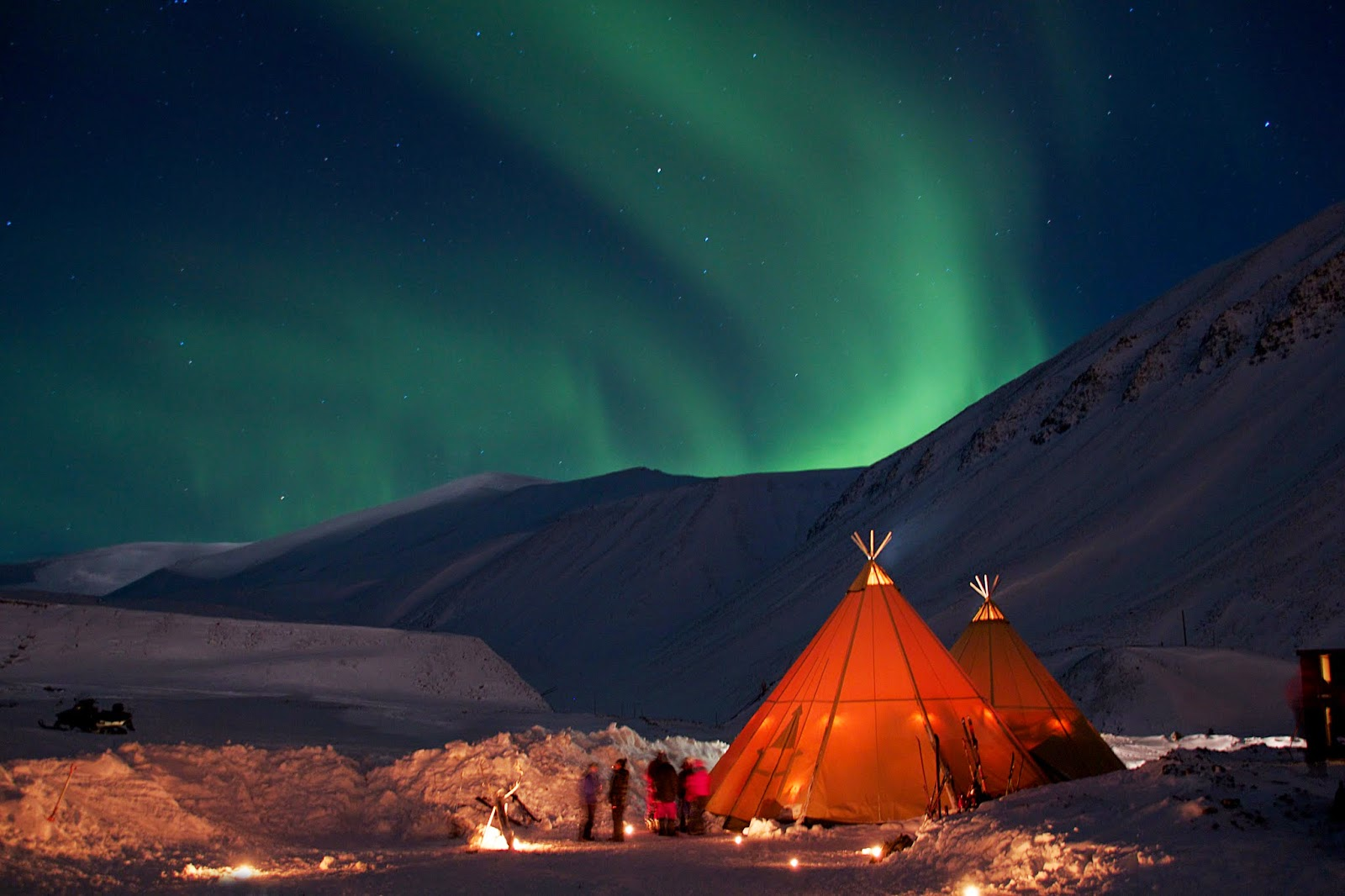 Isole Svalbard, Aurora Boreale - Foto Marcela Cardenas svalbard.net©