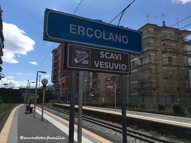 Estación de tren de Ercolano