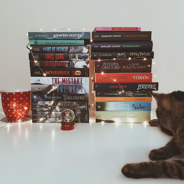 2019. novemberi beszerzések a Tekla Könyvei könyves blogon: összesen 25 új könyv novemberben plusz Kátya cica