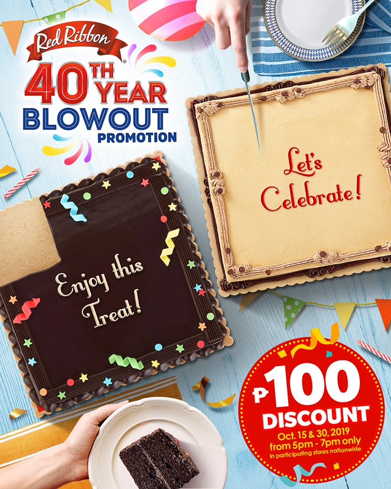Incredible Manila Shopper Red Ribbon 40Th Birthday Promo October 2019 Funny Birthday Cards Online Inifofree Goldxyz
