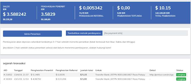 Melakukan withdraw yang ketiga kalinya di safelinku.com 3 dollar, apakah bisa ?