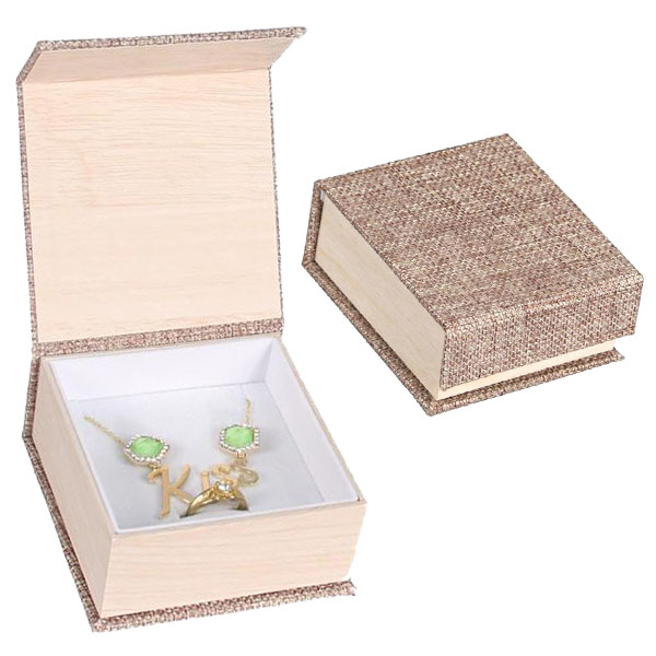 Buy Wholesale Deluxe Burlap Ring and Pendant Box at Nile Corp