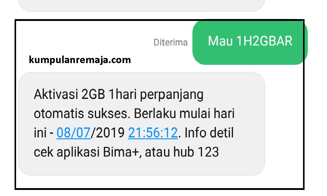 Cara Daftar Promo Paket Internet Tri 2gb 1500 Kumpulan Remaja