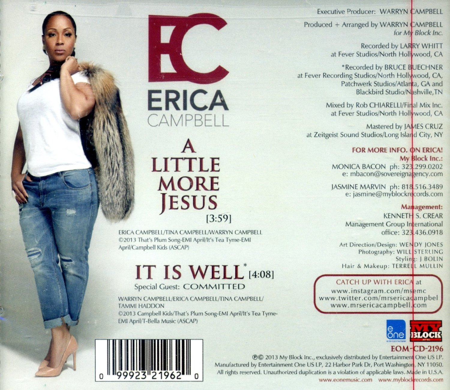 Download Music Erica Campbell - A Little More Jesus Feat -9835
