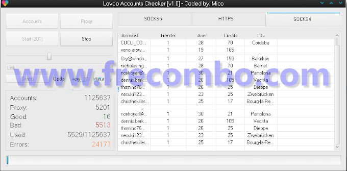 Lovoo Accounts Checker [v1.0] – Coded by Mico