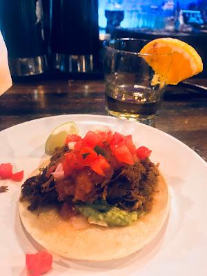 T-Byrd's Tacos & Tequila Barbacoa Taco and Arta Anejo, Colorado Springs, CO