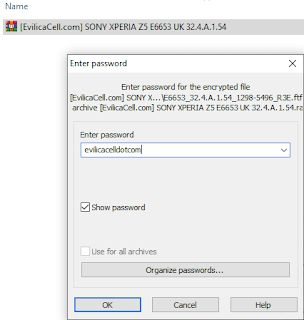 Password Firmware Sony Xperia Z5 E6653