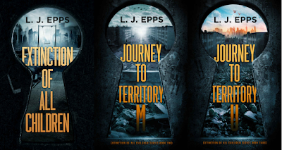 "Front covers of the ""Extinction of All Children"" series by L.J. Epps from On My Kindle BR's review of 'Extinction of All Children'"