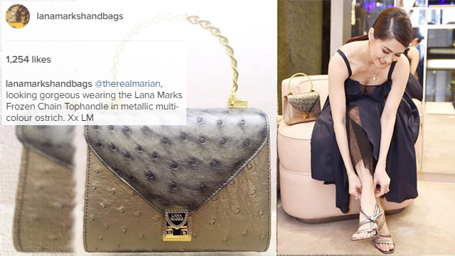 First Filipino to own Princess Diana luxury handbags is Marian Rivera