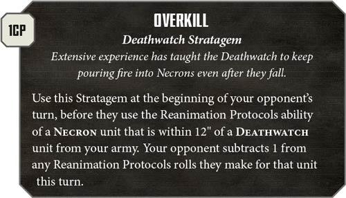 Estratagemas Deathwatch
