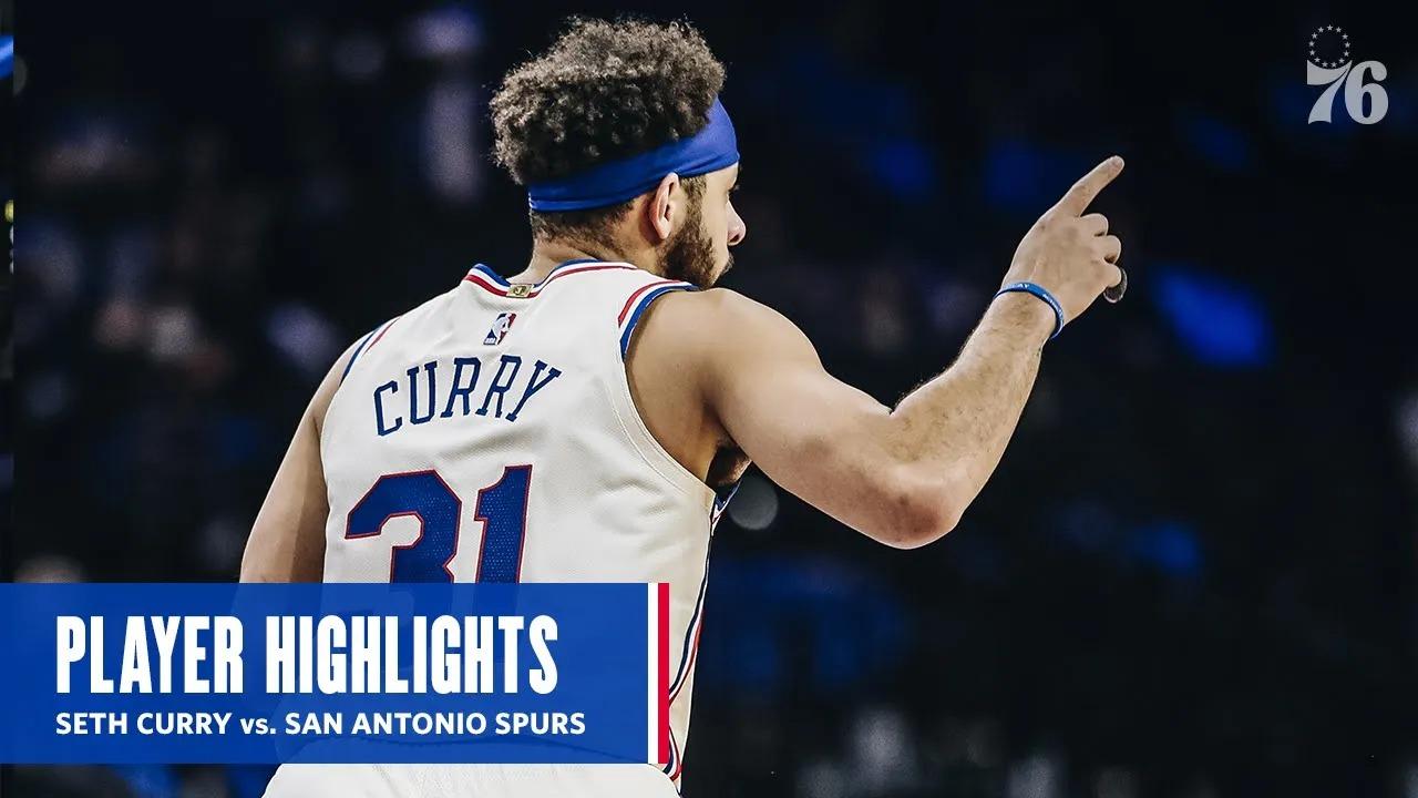 Seth Curry 21pts 4reb 4ast vs SAS   March 14, 2021   2020-21 NBA Season