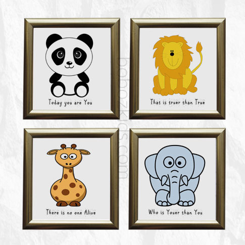 Kids Nursery Room Animal Inspirational Wall Frames in Port Harcourt, Nigeria
