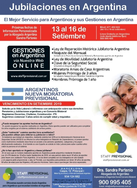 Jubilaciones en Argentina de argentinos en Barcelona