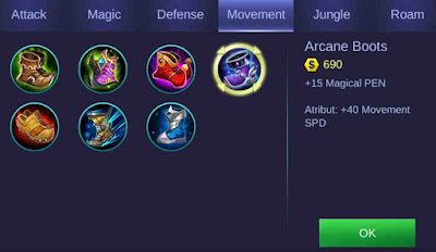 Arcana Boots Item Sepatu Mobile Legends Gusion