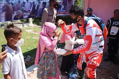 Puluhan Anak Yatim di Krueng Raya Dapat Bantuan Sosial Dari Wakapolda Aceh