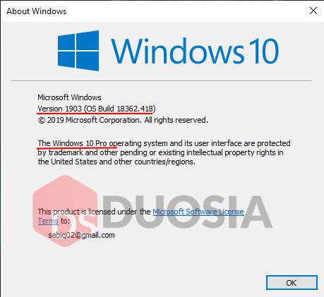 cara mengetahui versi windows 10 yang kita pakai