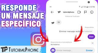 cómo responder un mensaje específico en Instagram