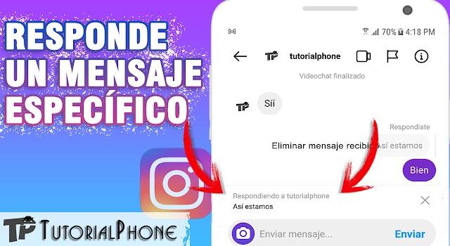 Cómo responder un mensaje en Instagram