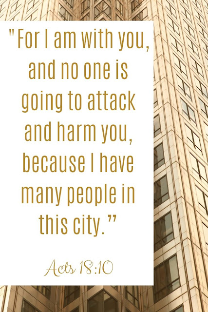 Bible Verse | For I Am With You And No One Is Going To Attack And Harm You