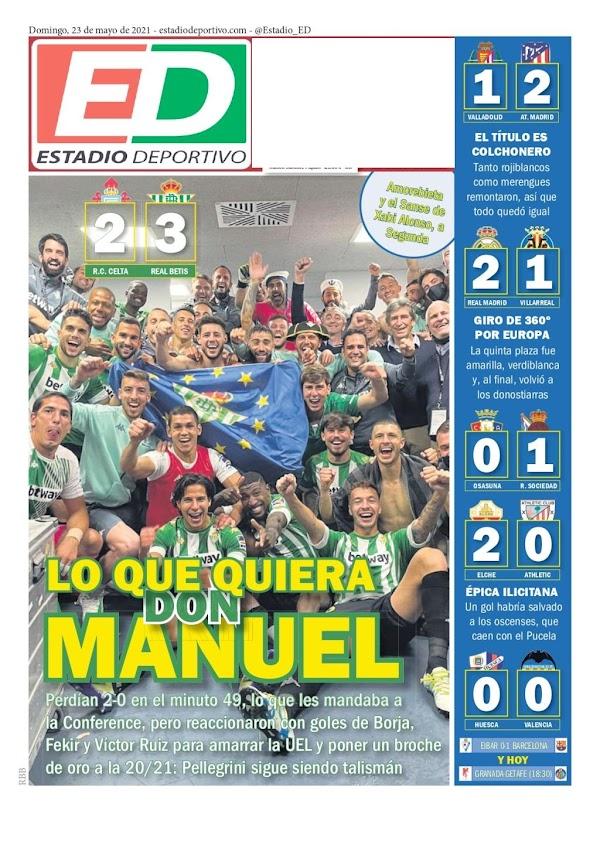 """Betis, Estadio Deportivo: """"Lo que quiera don Manuel"""""""