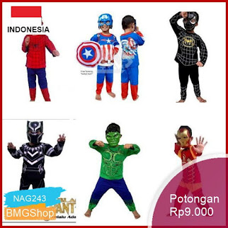 NAG243 Kostum Anak Avenger Spiderman Iron Man Hulk Captain Bmgshop