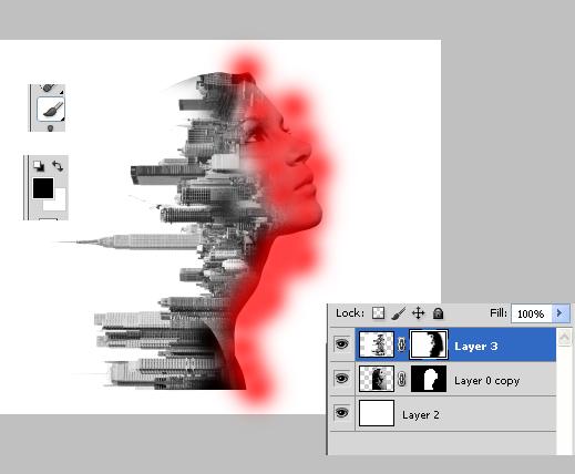 efek double exposure, tutorial photoshop, efek foto
