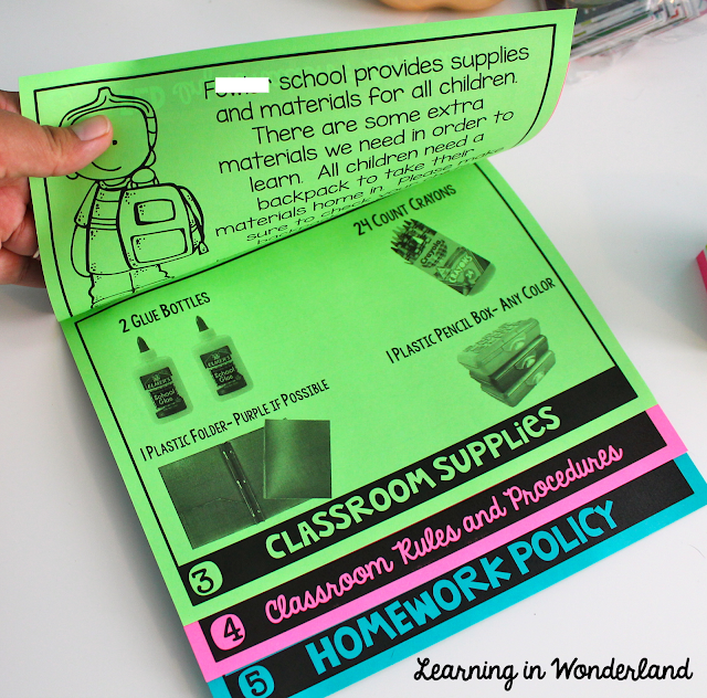 Back-to-School flip book for Meet the Teacher night!