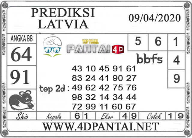 PREDIKSI TOGEL LATVIA PANTAI4D 09 APRIL 2020