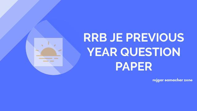 rrb je question paper pdf