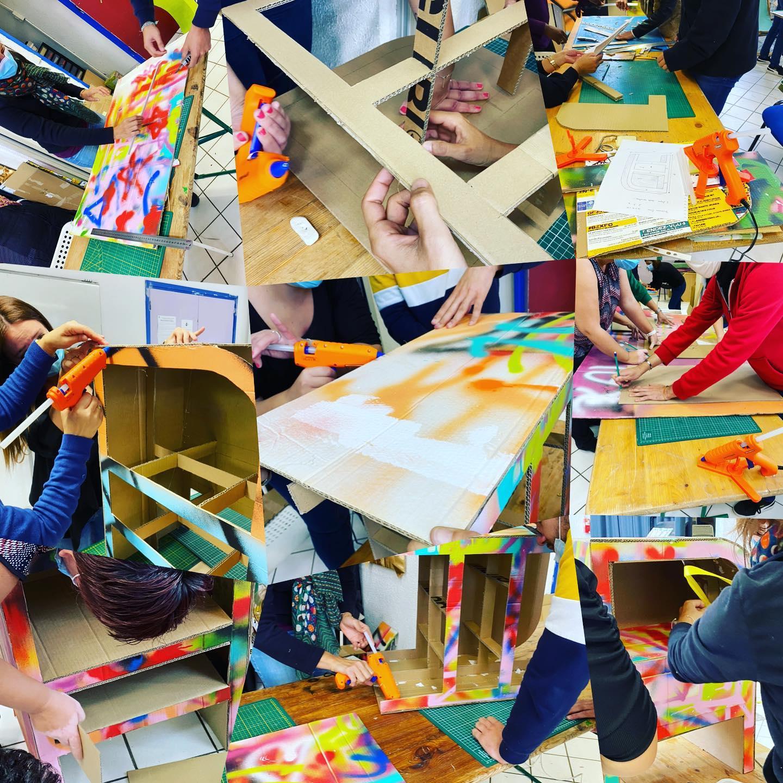 atelier carton MJC centre social