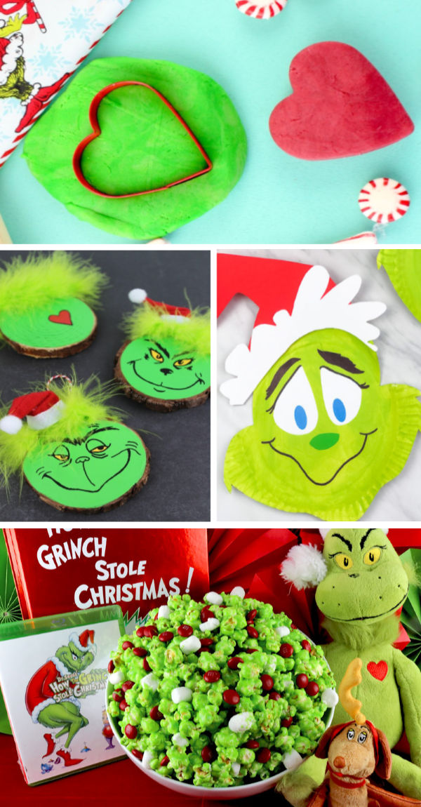Grinch crafts and activities for kids including how to make Grinch slime. #grinch #grinchactivitiesforkids #grinchcrafts #grinchslime #grinchslimerecipe #grinchslimekids #grinchslimediy #christmasslime #holidayslime #slimerecipe #slime #growingajeweledrose #activitiesforkids