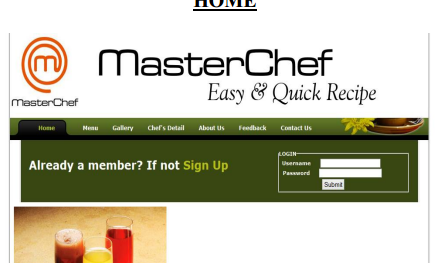 Source code Web Based PHP Mysql Master Chef