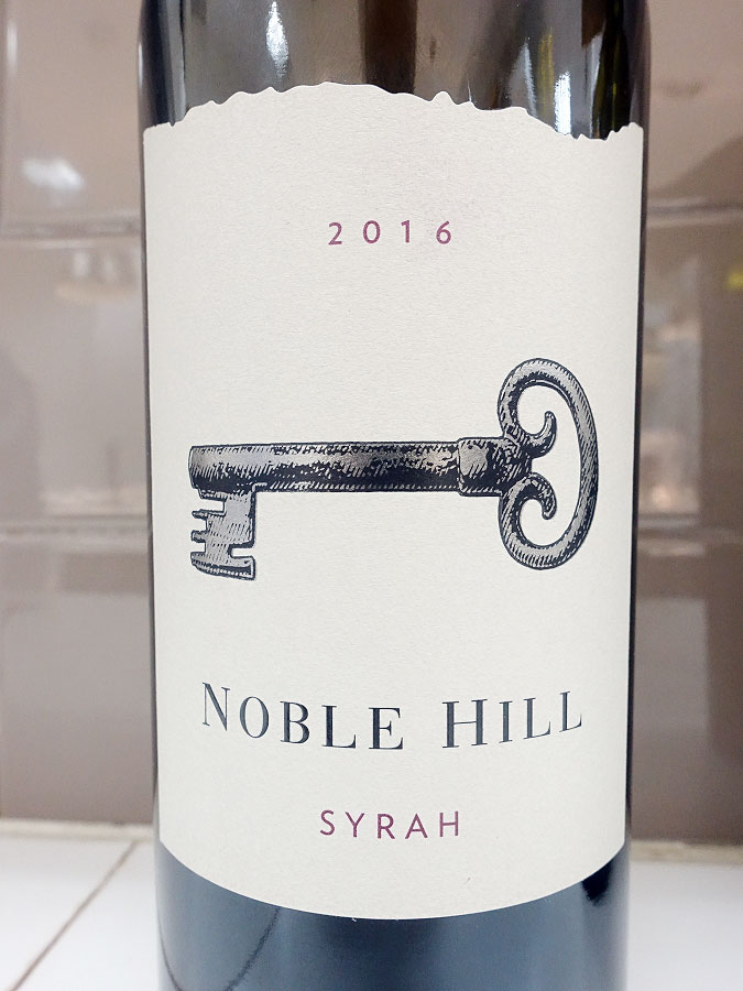 Noble Hill Syrah 2016 (90 pts)