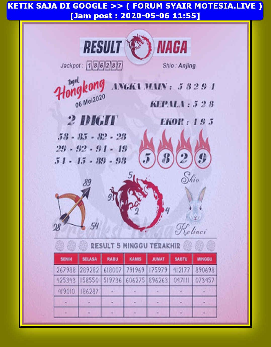 Kode syair Hongkong Rabu 6 Mei 2020 153