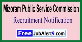 Mizoram PSC Mizoram Public Service Commission Recruitment Notification 2017 Last Date 16-05-2017