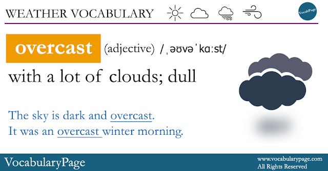 Weather Vocabulary - Overcast