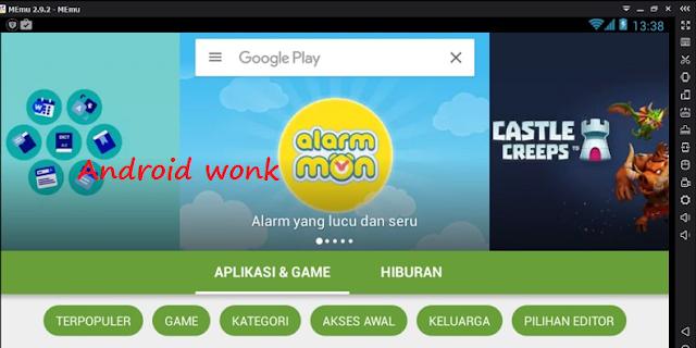instal aplikasi android di pc