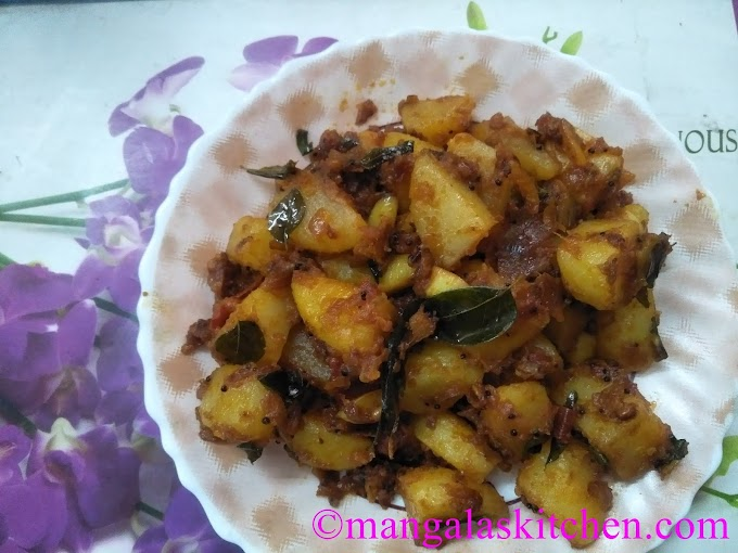 Urulai Kizhangu Varuval | Potato Fry Masala in Traditional Style
