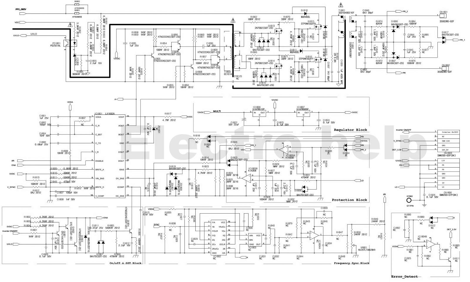 Bn44-00197 - Samsung Lcd Tv Power Supply Circuit Diagram