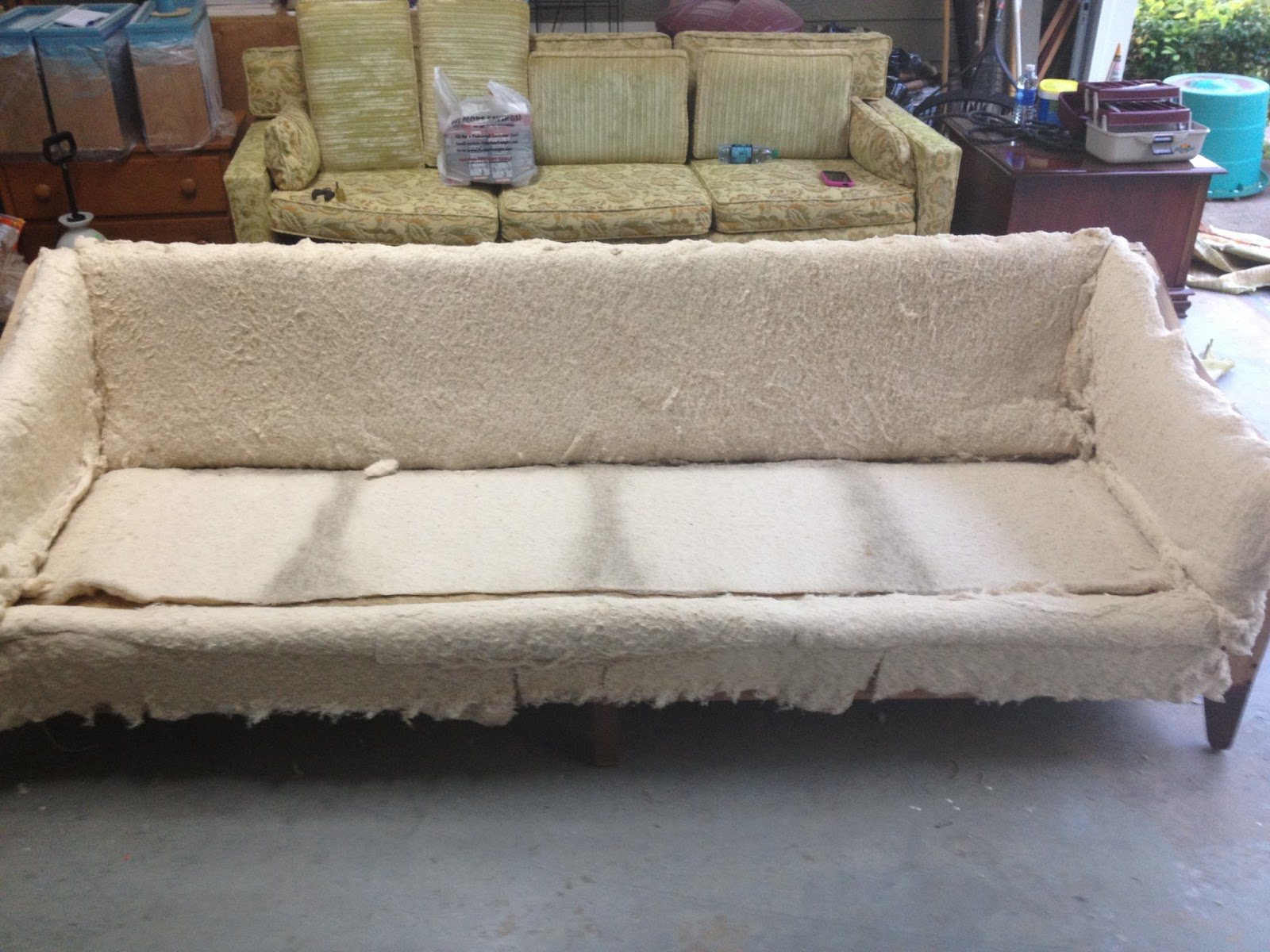 Reupholster Sofa South London Light Gray For Sale Between The Rafters 60s Mod Couch
