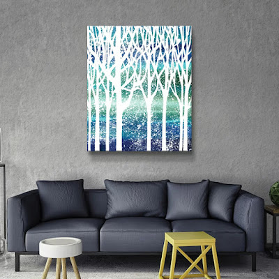 Bestselling watercolor Forest Silhouette  by  artist Irina Sztukowski