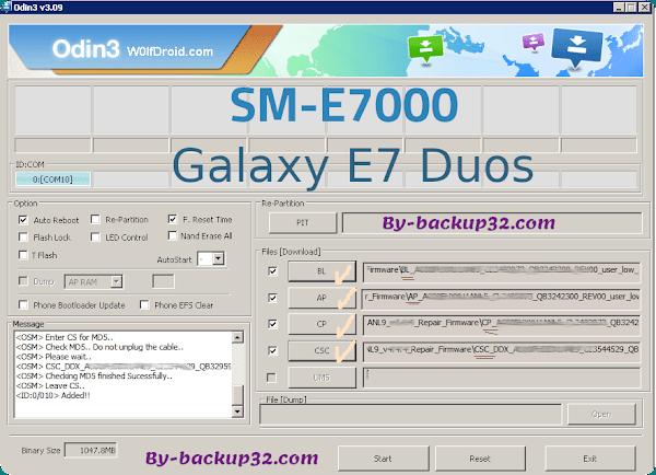 سوفت وير هاتف GALAXY E7 DUOS موديل SM-E7000 روم الاصلاح 4 ملفات تحميل مباشر