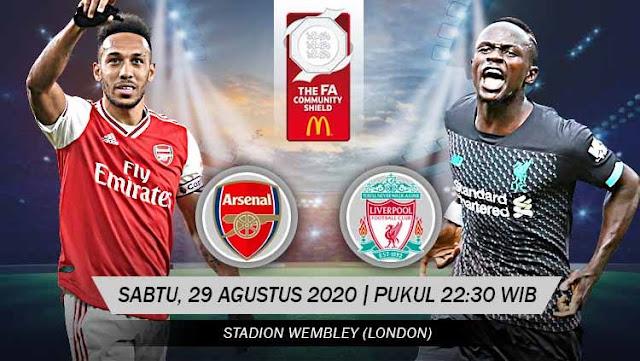 Prediksi Bola Arsenal vs Liverpool 29 Agustus 2020